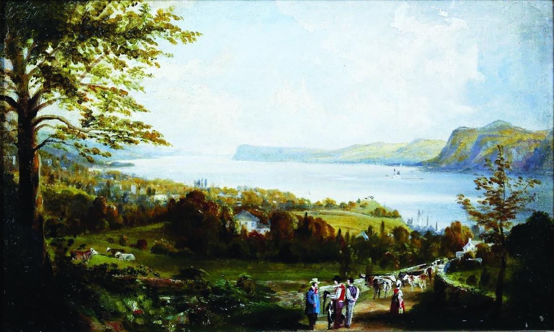 Havell Jr. Hudson River Oil Painting