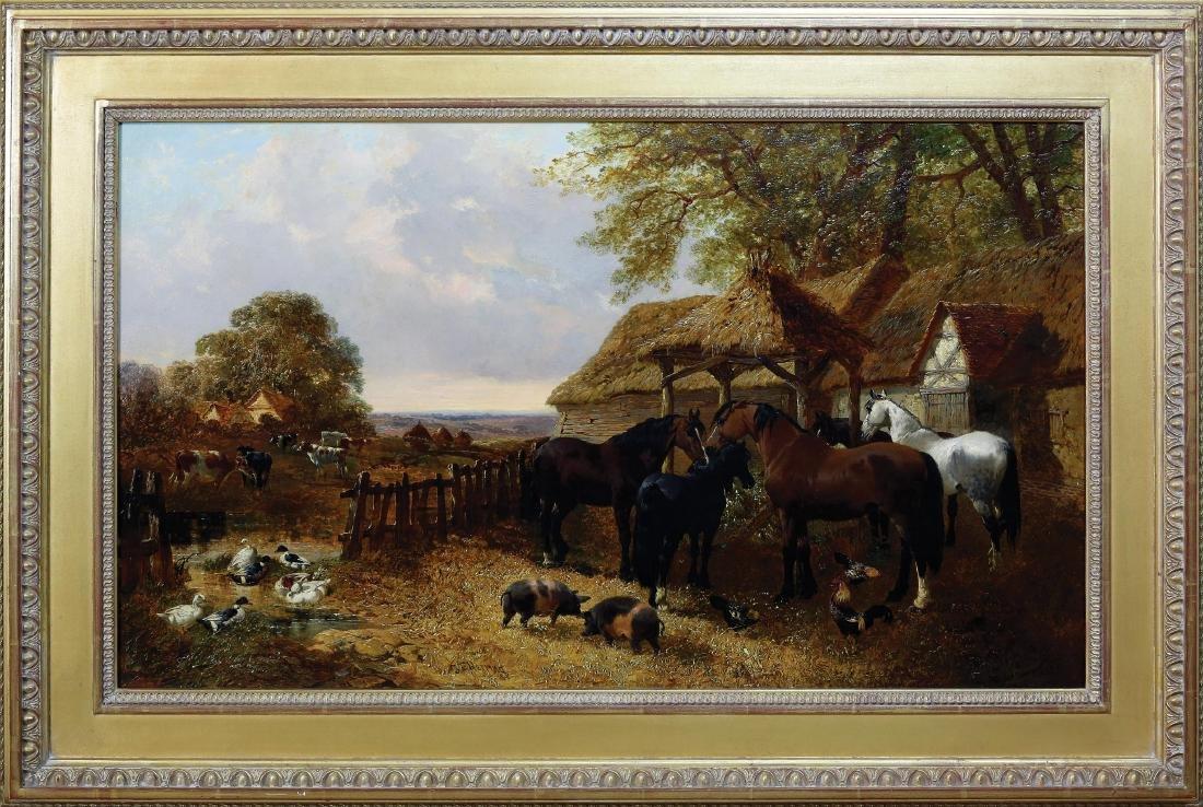 Herring Stable Yard Oil Painting - 3