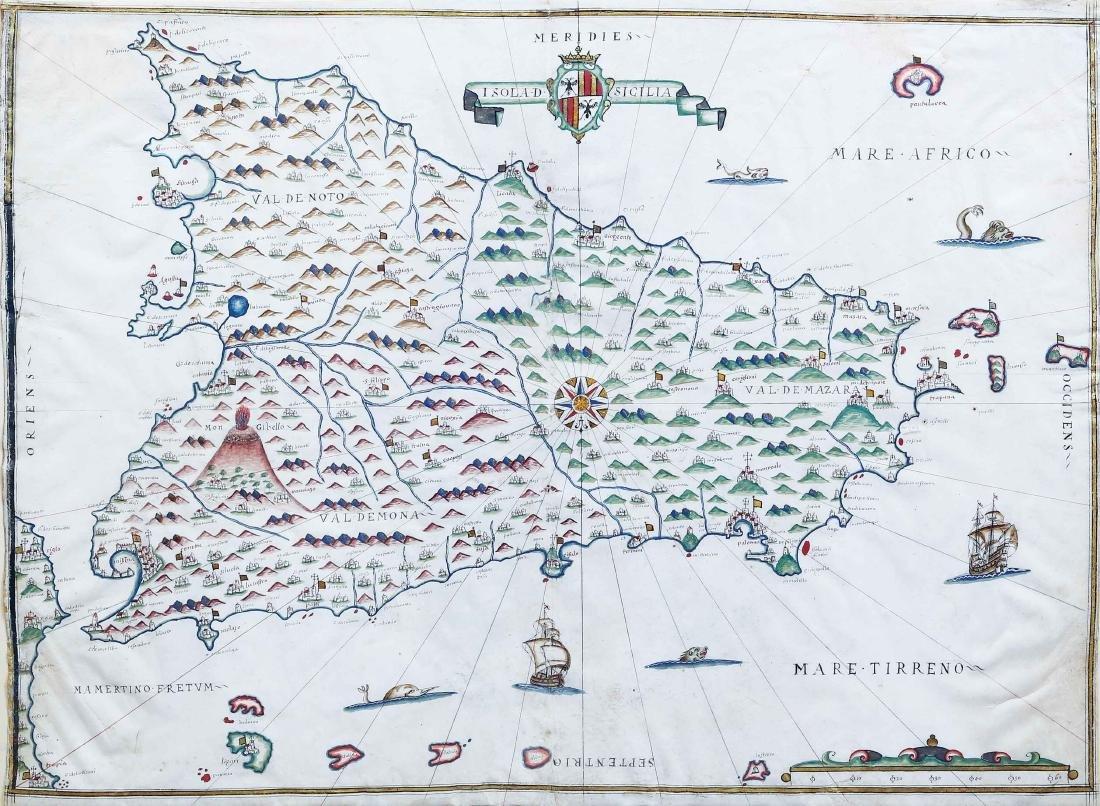 Portolan Chart of Sicily
