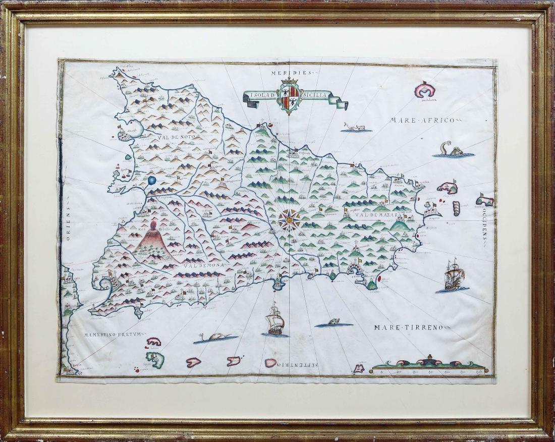 Portolan Chart of Sicily - 2