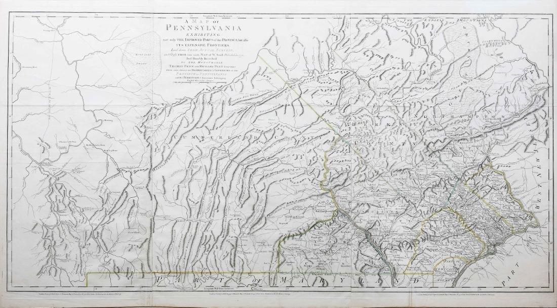Scull Map of Pennsylvania 1775