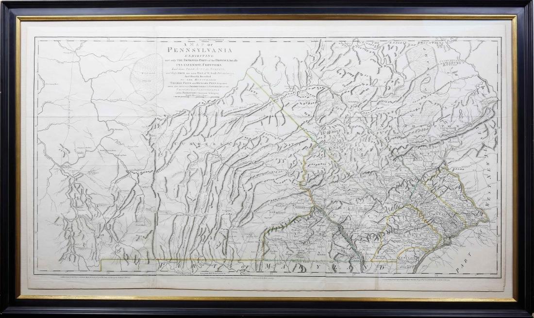 Scull Map of Pennsylvania 1775 - 2