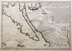 De Fer Engraved Map of California
