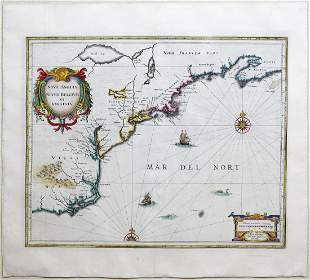 Janssonius Map of American Colonies