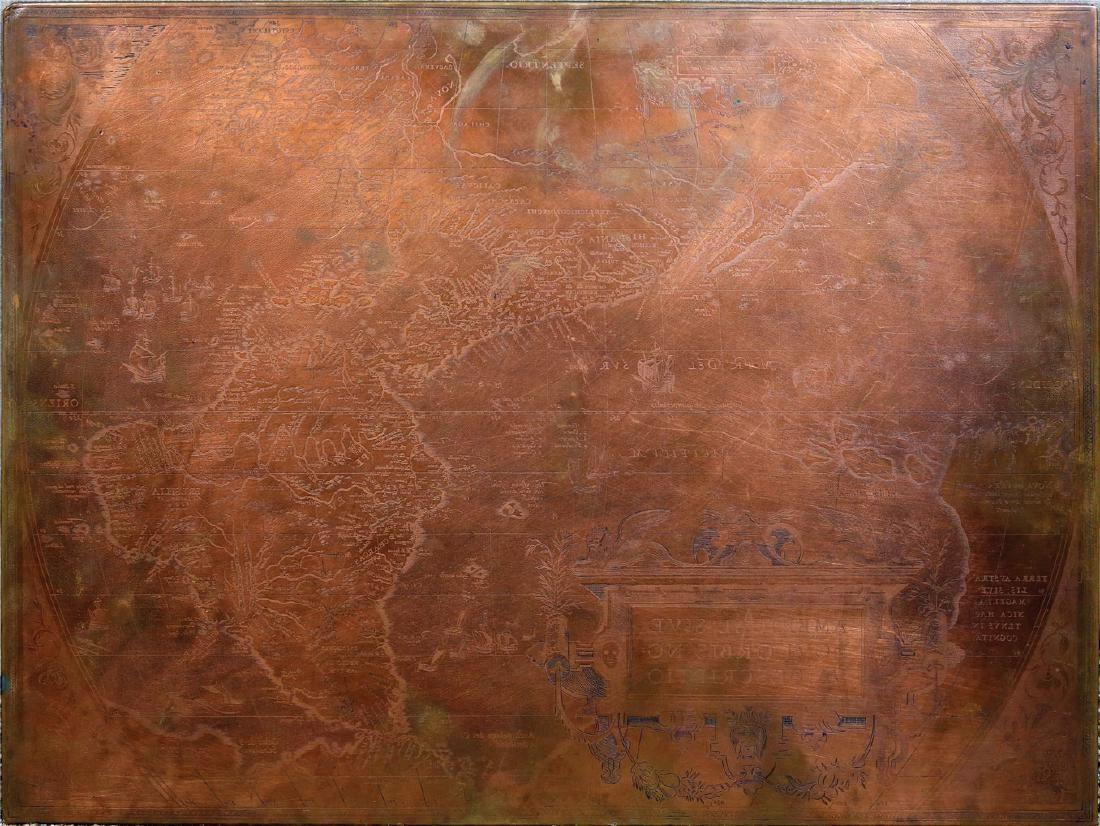 Ortelius America Original Copperplate