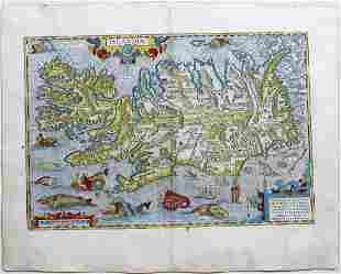 Ortelius Map of Iceland