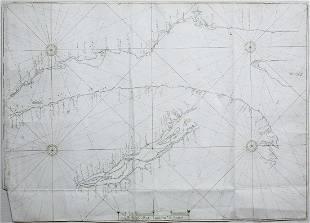Manuscript Map of St. Lawrence River, Canada