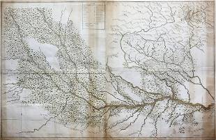 French Manuscript Map of India