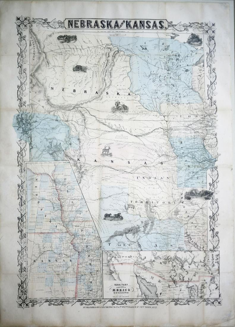 Colton Map of Nebraska and Kansas