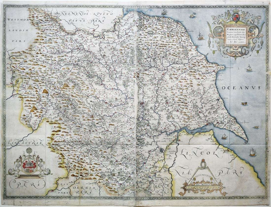Saxton Map of York