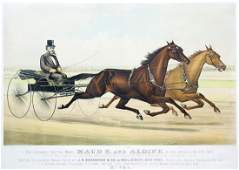 Currier and Ives Trotting Mares