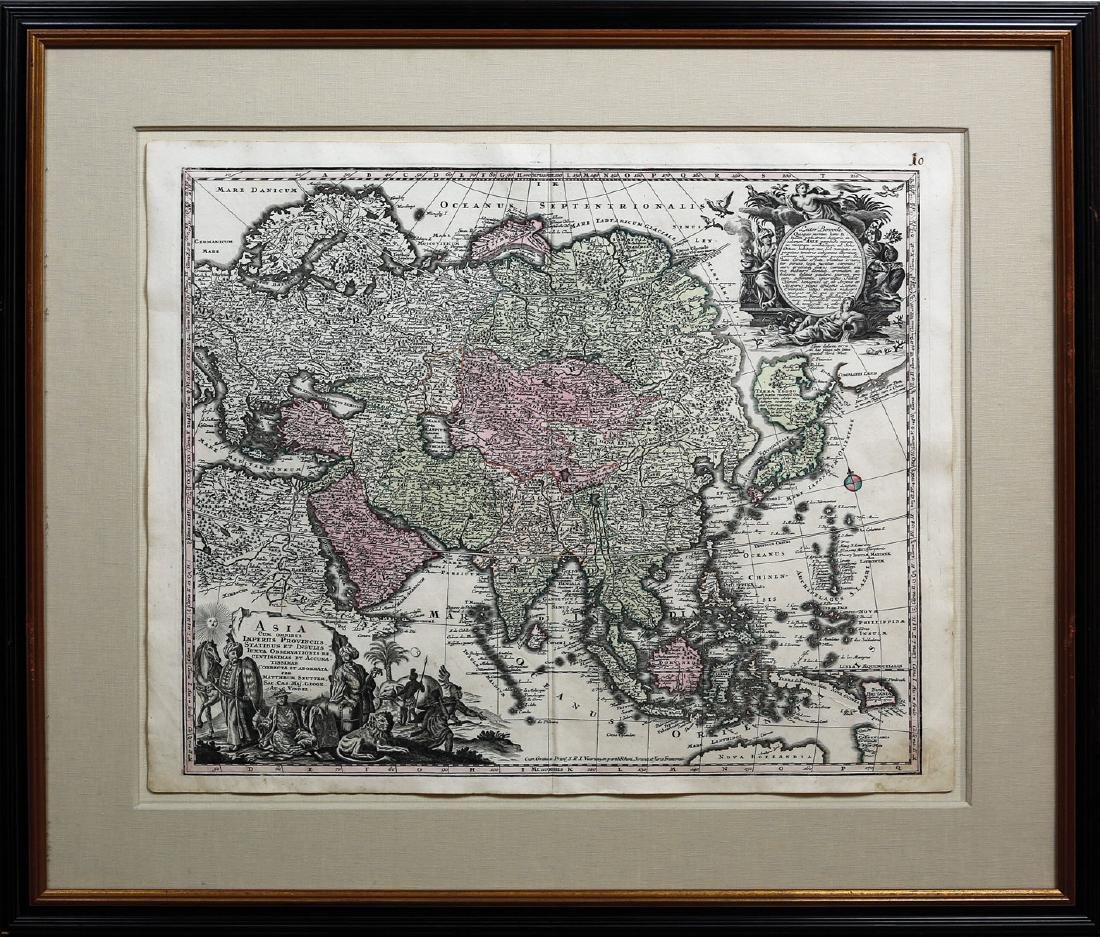 Seutter Map of Asia - 2