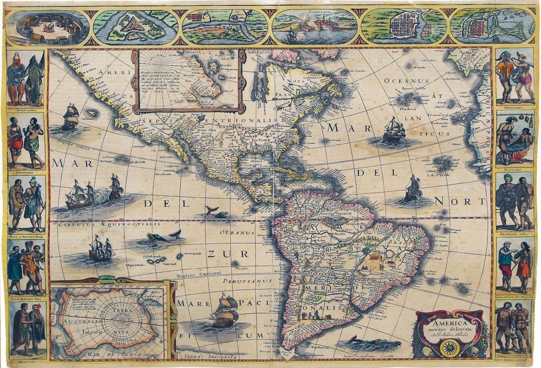 Hondius Map of America