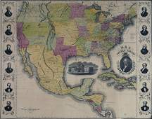 Miller Map of the US with Presidential Portraits
