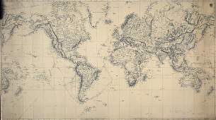 Admiralty Sea Chart of the World 1874