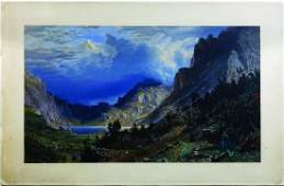 Bierstadt Storm in the Rocky Mountains Chromo