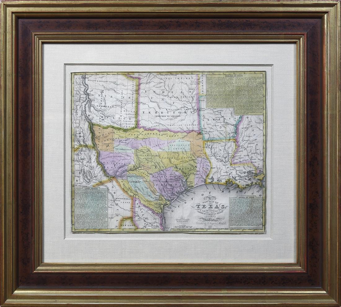 Young New Map of Texas 1835 - 2