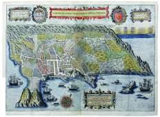 Linschoten Map of Terceira, Canary Islands