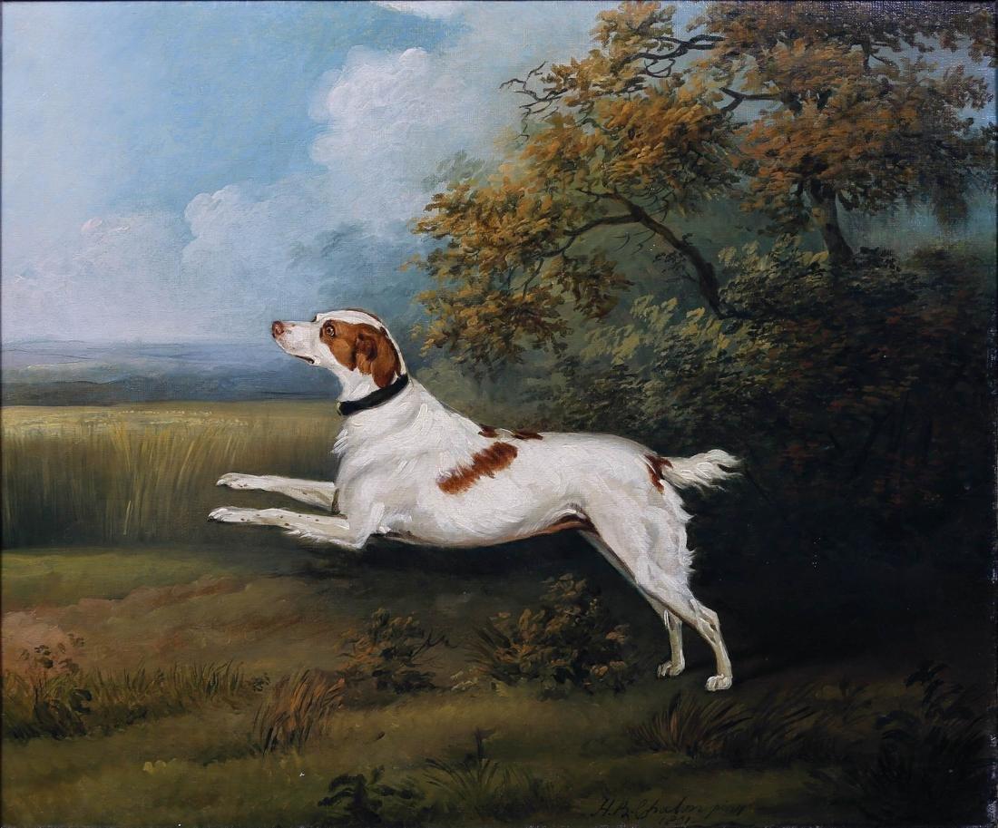 English Spaniel Oil Painting