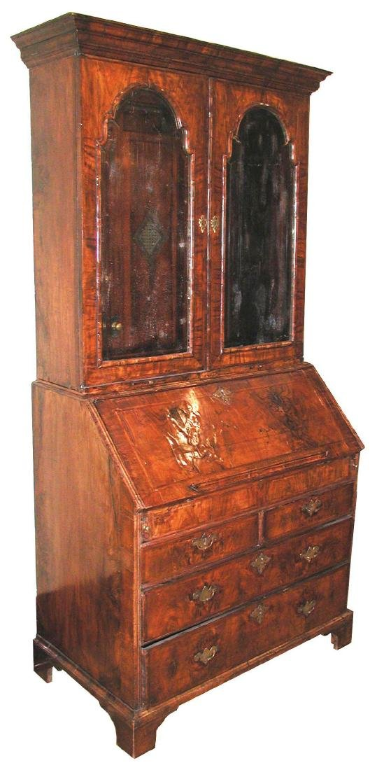 Queen Anne Bureau Bookcase
