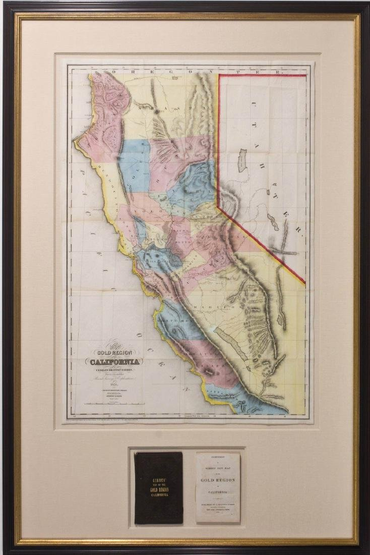 Gibbes New Map of the Gold Region in CA