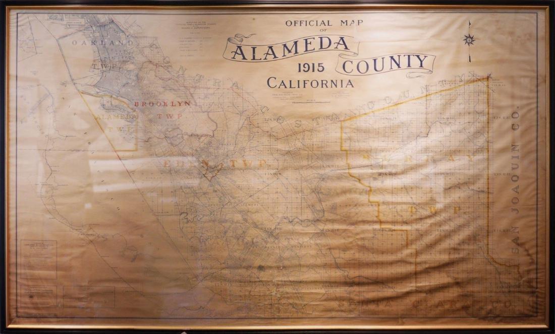 Map of Alameda County, CA