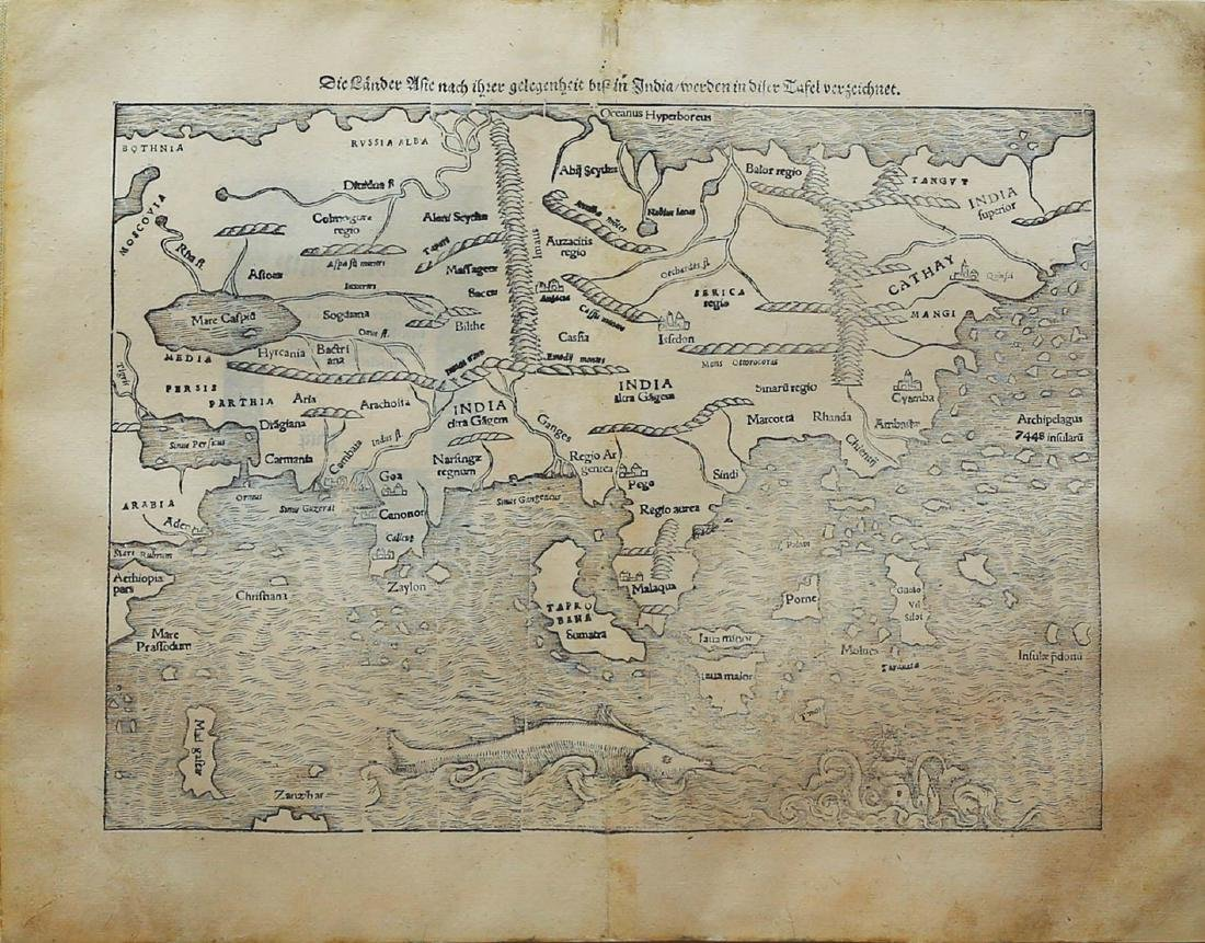 Munster Map of Asia