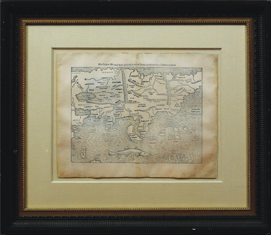 Munster Map of Asia - 2