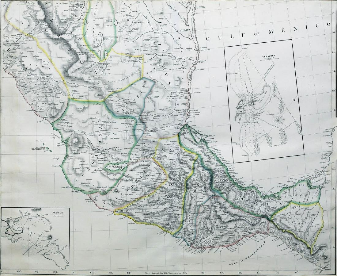 Arrowsmith New Map of Mexico - 2