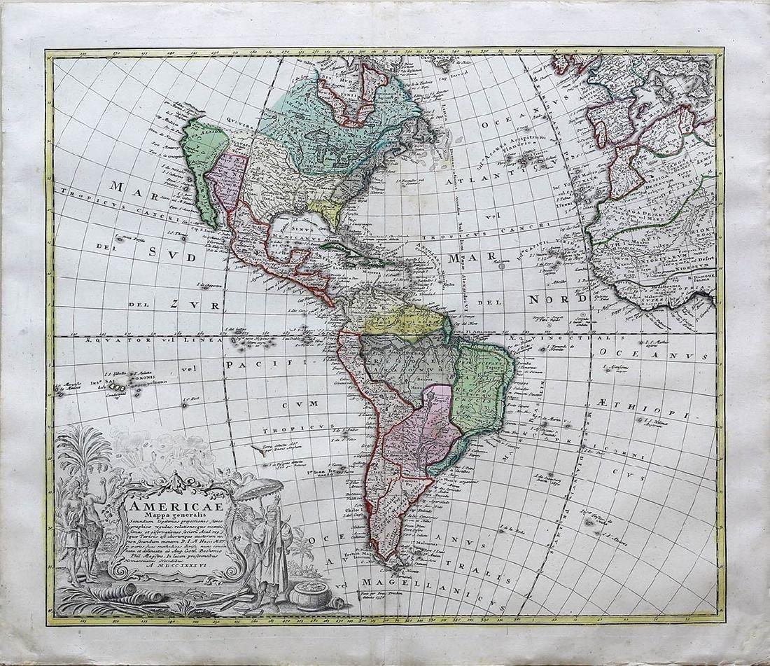 Homann Heirs Americas Map