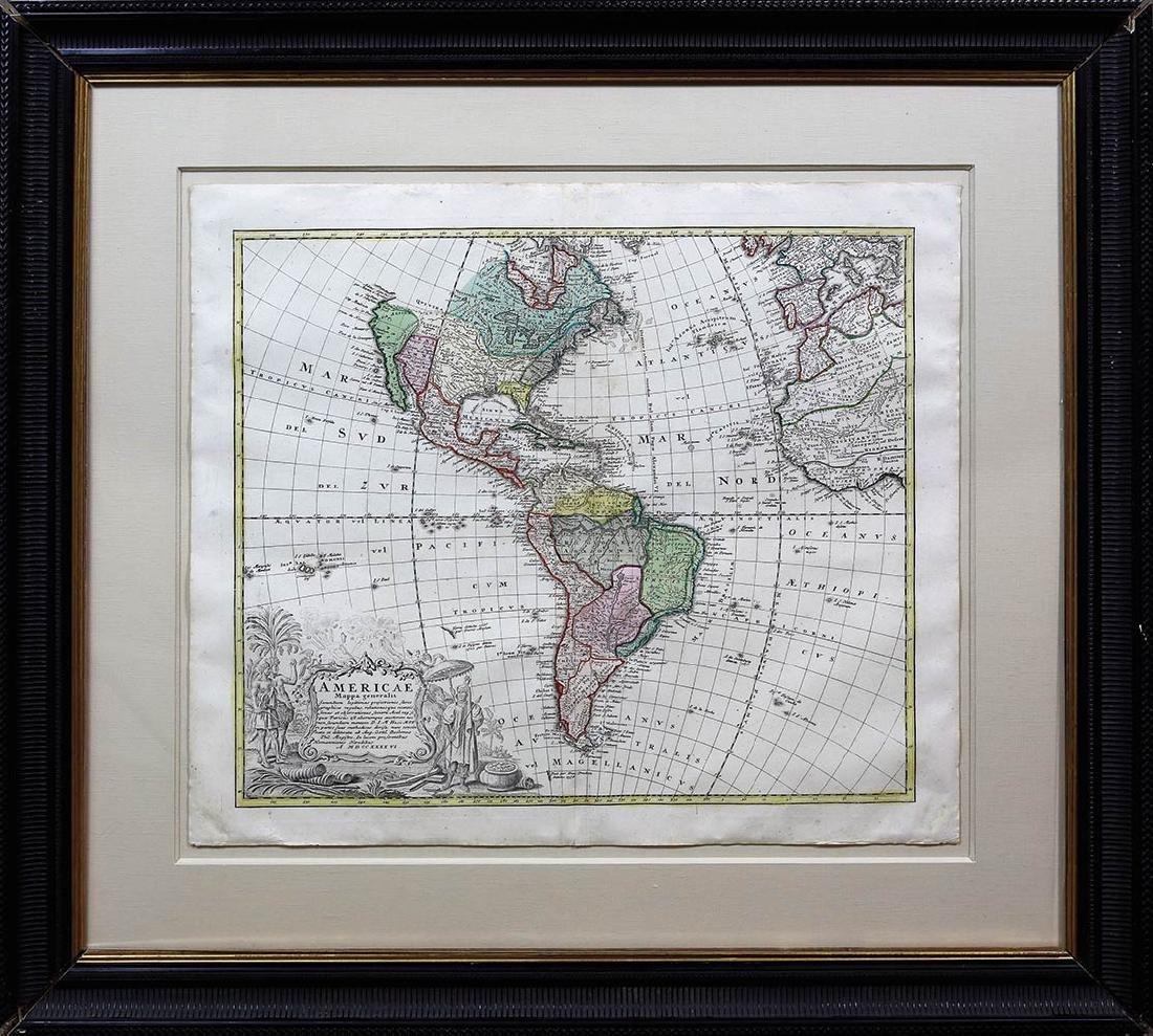 Homann Heirs Americas Map - 2