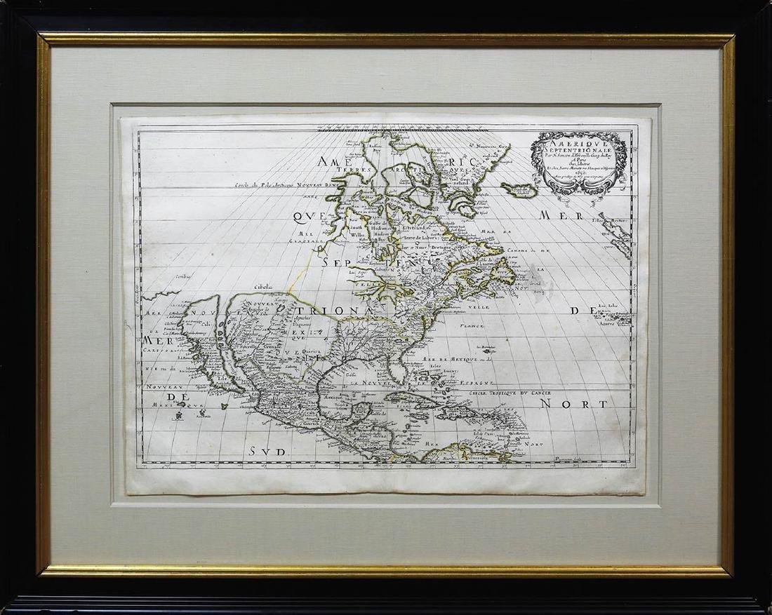 Sanson Americas Map - 2