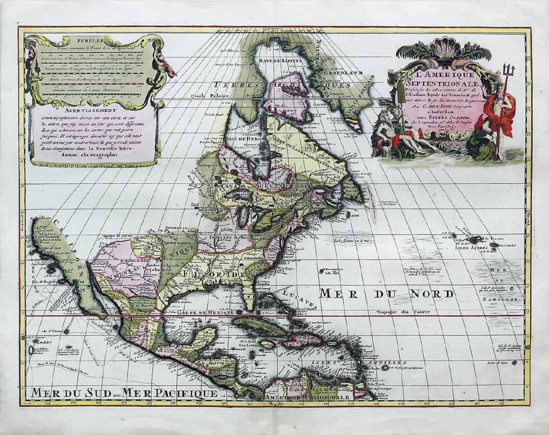 De L'Isle Americas Map
