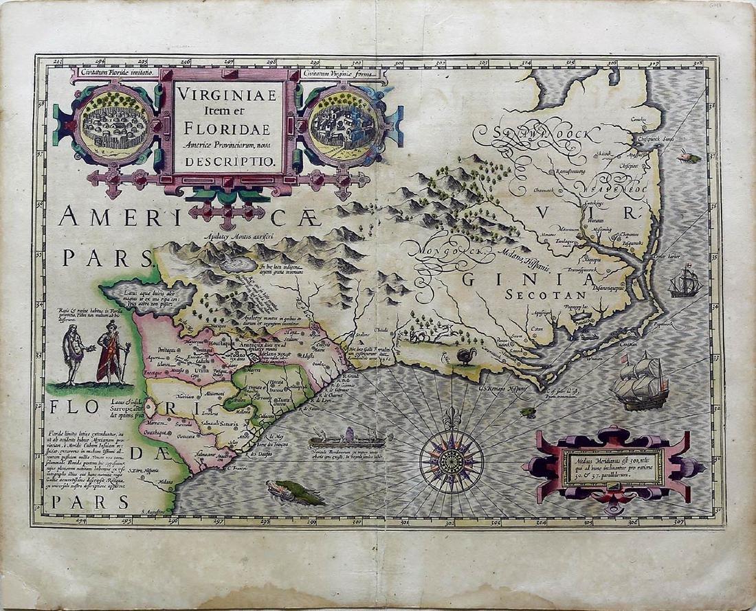 Hondius Southeast U.S. Map
