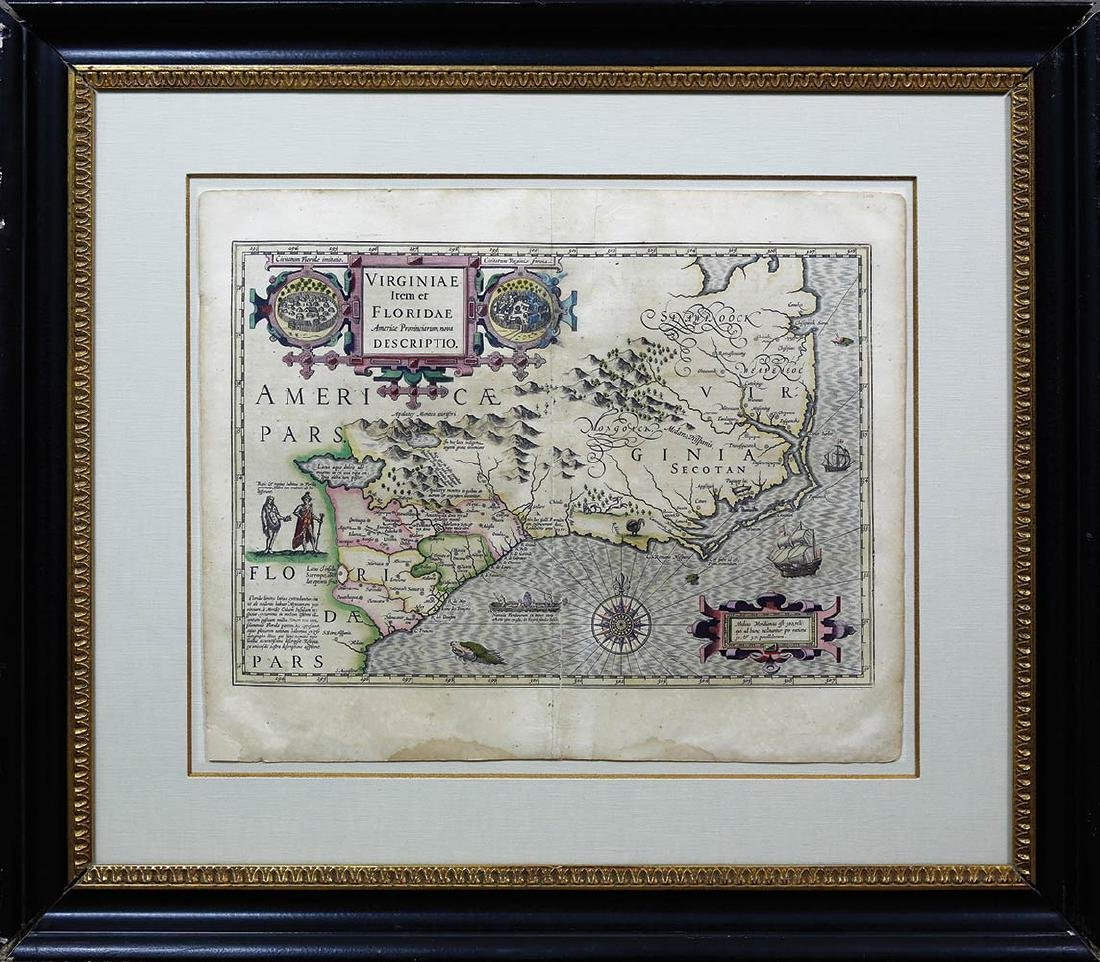 Hondius Southeast U.S. Map - 2