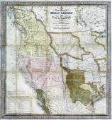 Mitchell New Map of TX, OR, CA 1846