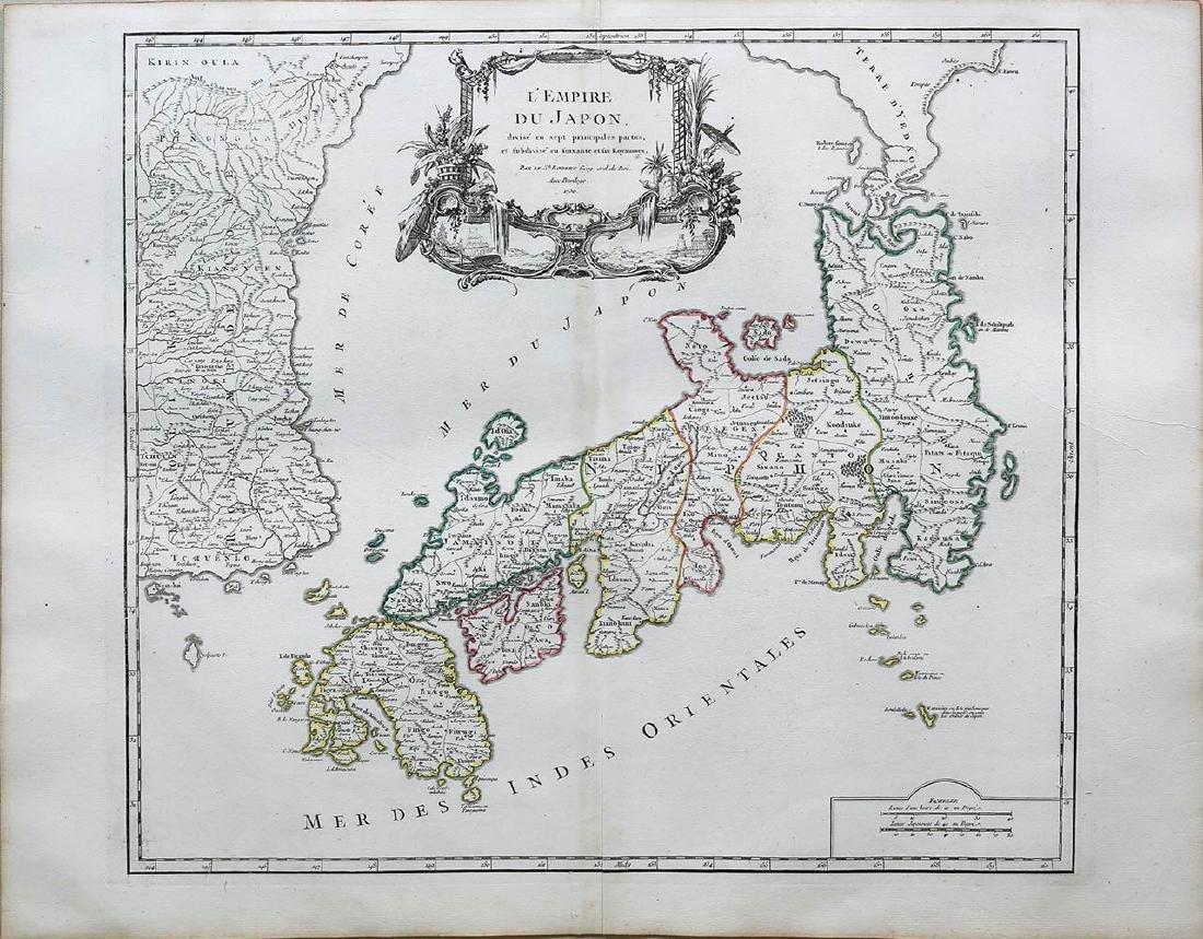 Vaugondy Empire of Japan Map