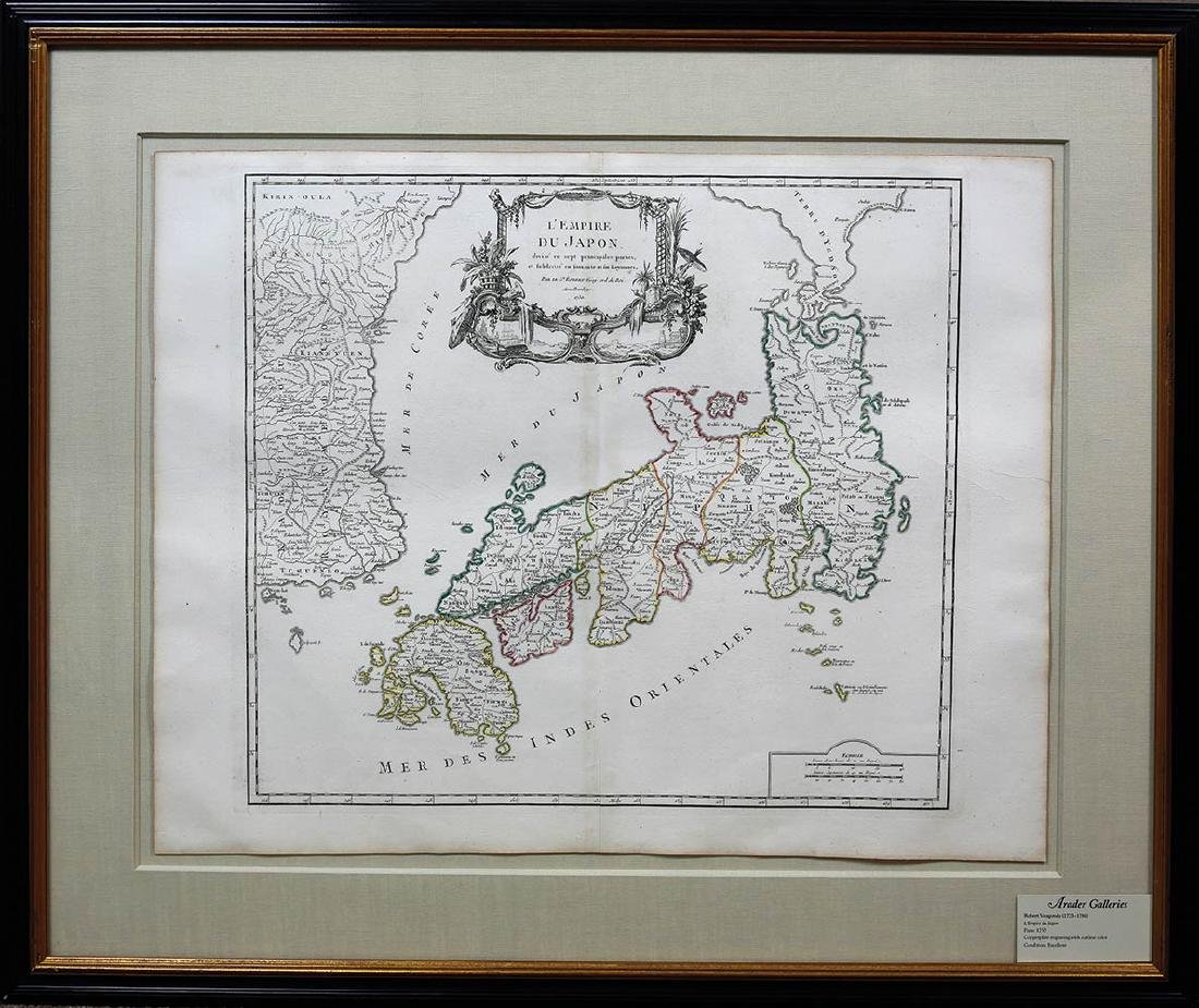 Vaugondy Empire of Japan Map - 2