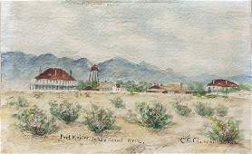 Churchill Watercolor of Indian Territory