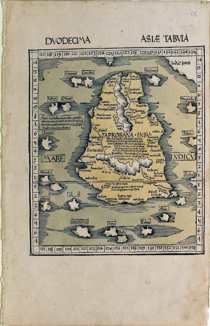 Ptolemy Map of Sri Lanka