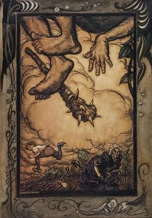 Rackham Jack and the Beanstalk Watercolor