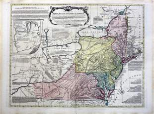 Bowles Map of the British Colonies