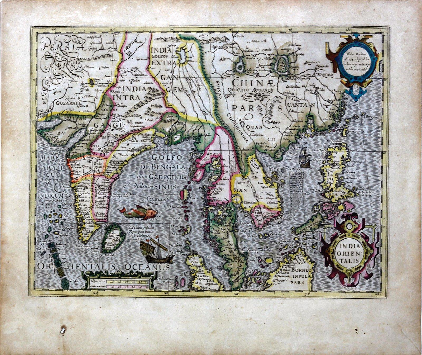 Hondius Map of Southeast Asia