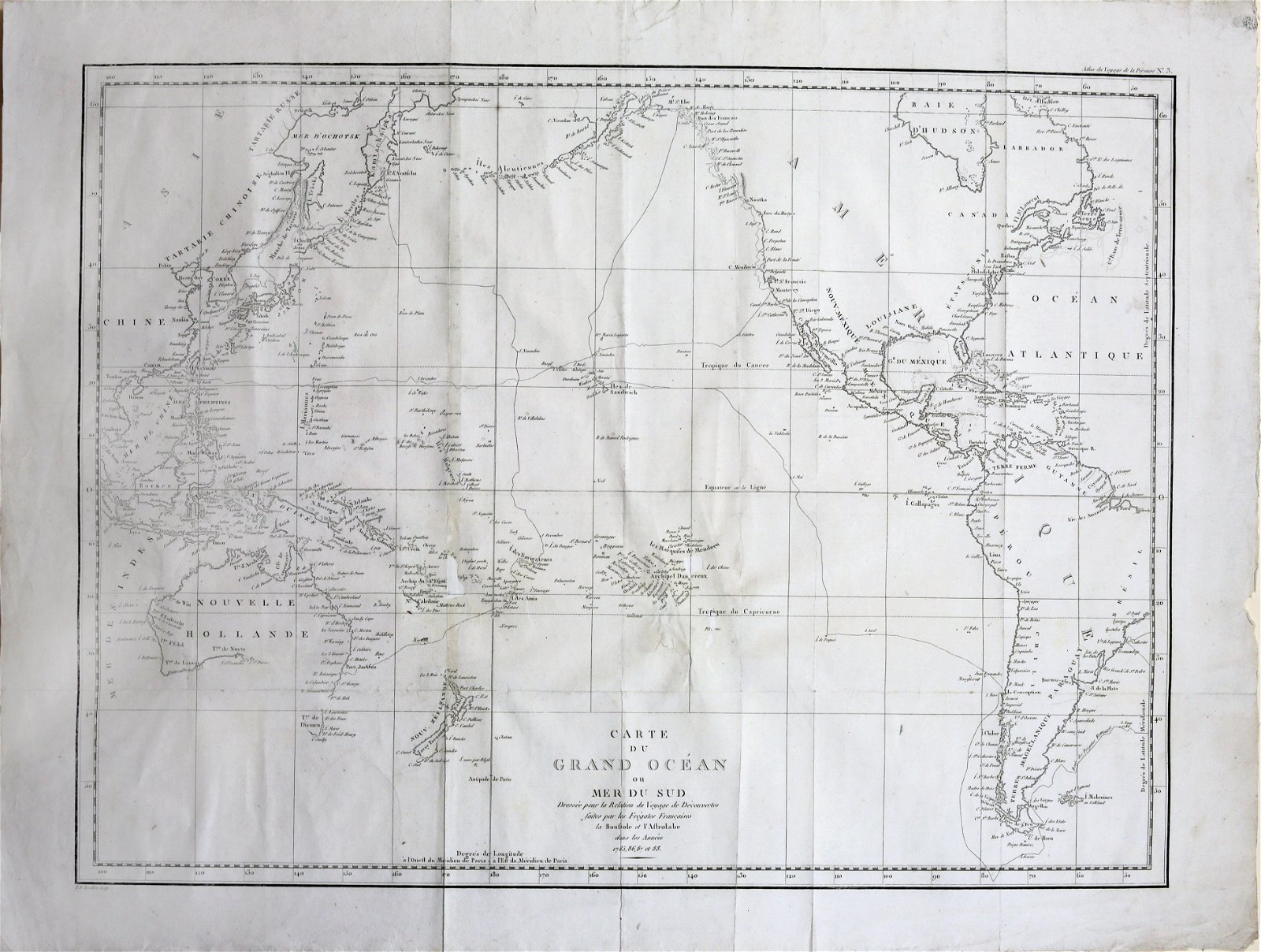 Perouse Map of the Pacific