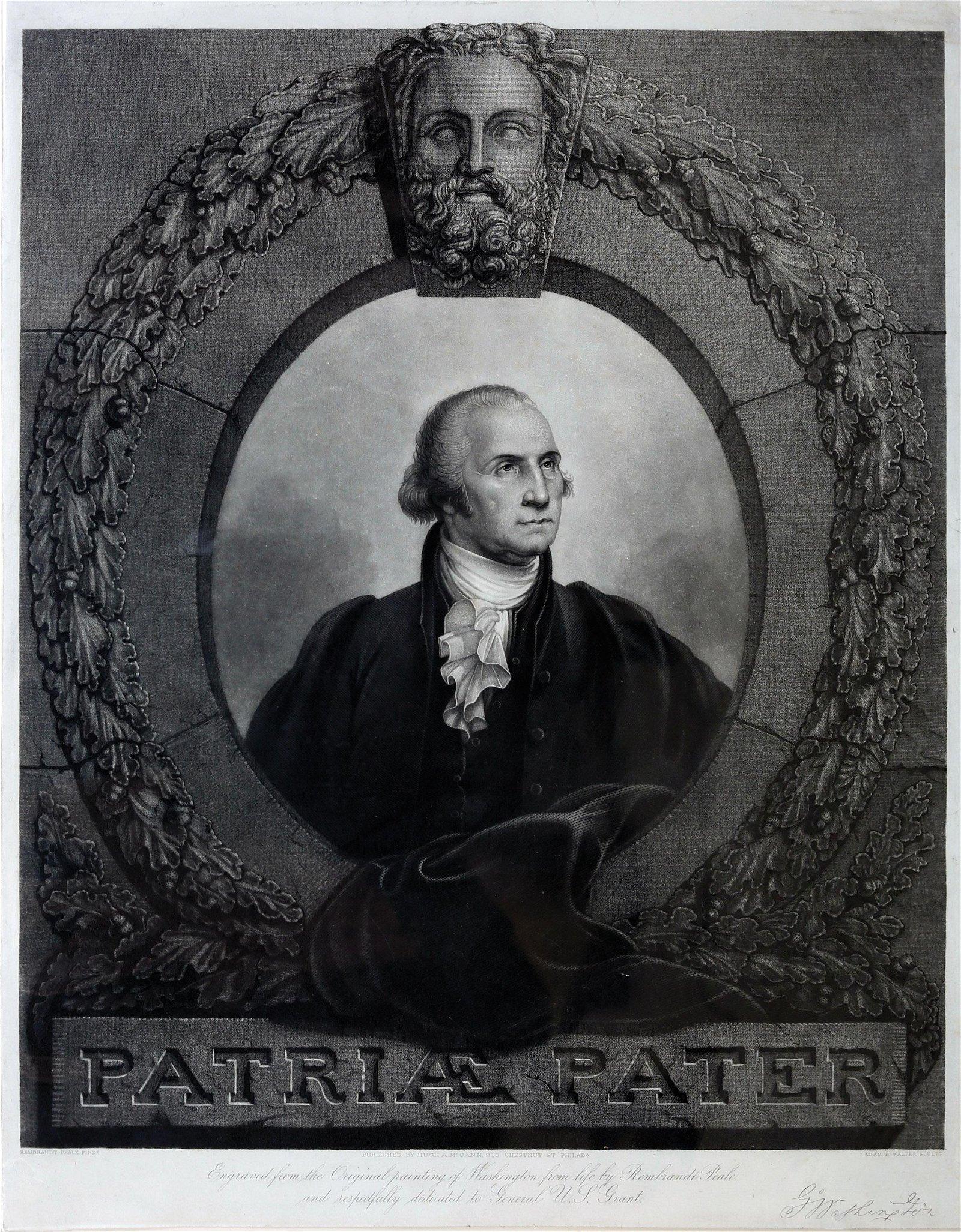 Peale image of George Washington