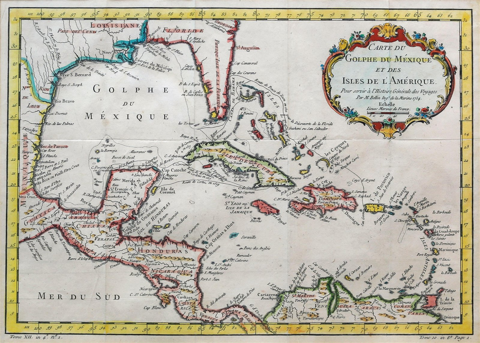 Bellin Map of the Carribean