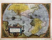 Ortelius Map of America 1575