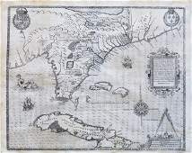 Le Moyne Map of Florida 1591