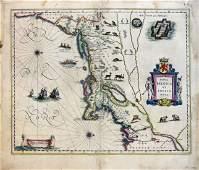 Blaeu Map of NE US 1622