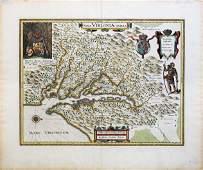 Blaeu Map of Virginia 1640